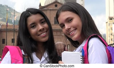 Happy Smiling Female Students