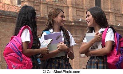 Teen Girls Laughing Girls Having Fun