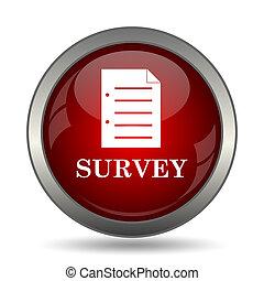Survey icon. Internet button on white background.