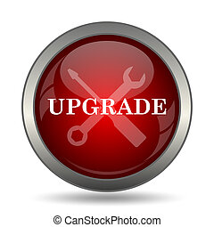 Upgrade icon Internet button on white background