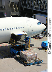 Loading cargo on a plane