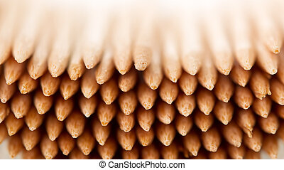 Lot of wooden toothpicks close up Texture - A lot of wooden...