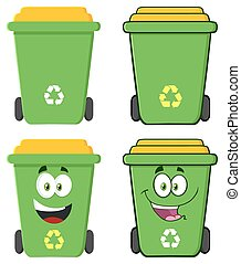 Recycle Bin Characters Collection - Recycle Bin Cartoon...