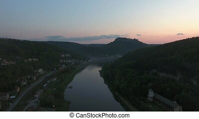 Landmark from fortress Koenigstein, Saxony video