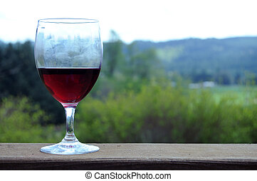 Red wine outside