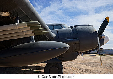 world war two bomber closeup - vintage world war two bomber...