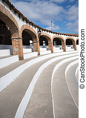 bullfighting ring architectural details