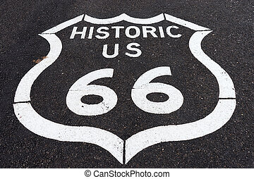 route sixty six sign in Arizona - historic route sixtysix...