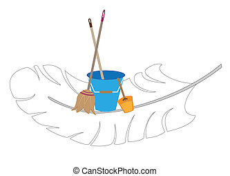 Easy cleaning - Vector logo of the company carrying out...