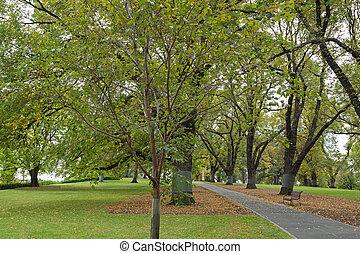 Flagstaff Gardens, the oldest park in Melbourne, Victoria,...