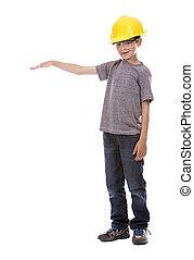 little boy wearing helmet - casual boy wearing yellow...