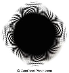 Abstract monochrome spirally, spiral element Twisted radial...
