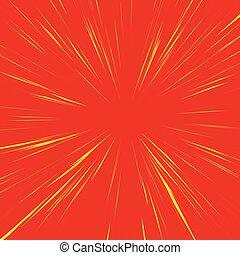 Extracto, Plano de fondo, con, radial, Irradiar, Converger,...