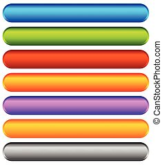 Horizontal colorful banner, button backgrounds. Set of vivid...