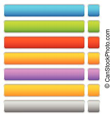 Button, banner background in 7 colors - horizontal, long...