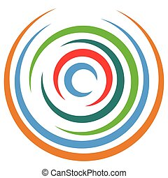 Abstract multicolored circular element Concentric circles,...