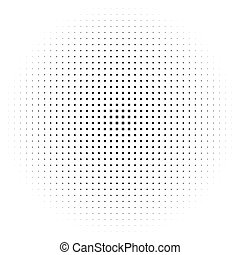 Circle halftone element, monochrome abstract graphic for...