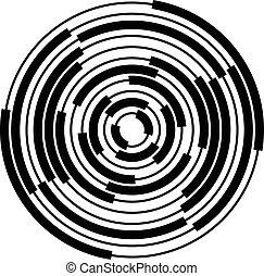 Extracto, radial, concéntrico, círculos,...