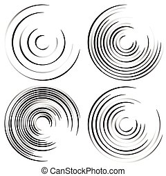 Abstract spiral shapes - Spirally, whirling circular element...