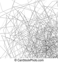 Random chaotic lines Intersecting edgy, angular lines