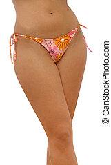 bikini - waist and legs of young woman in bikini