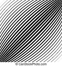 Diagonal lines, stripes with convex distortion,