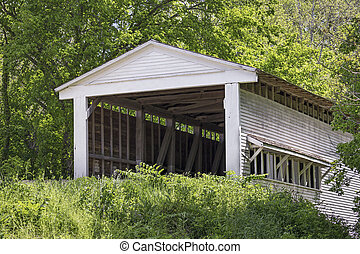 Portland Mills Covered Bridge in Parke County, Indiana