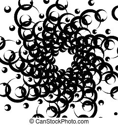 Abstract spirally monochrome element with overlapping...