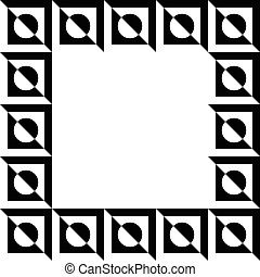 Geometric picture, photo frame in squarish format. Mosaic of...