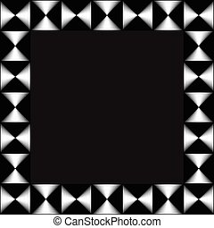Square format photo, picture frame with mosaic of lines...
