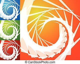 Colorful bright spirally background Spiral, vortex...