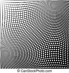 Abstract grid, mesh pattern with distortion effect Abstract...