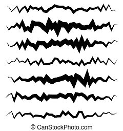 Abstract irregular line set Different wavy, zigzag dividers,...