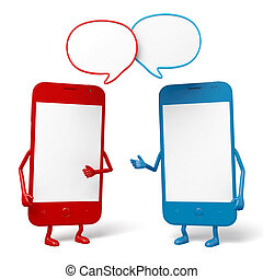 Cellphone - The two cellphones are talking
