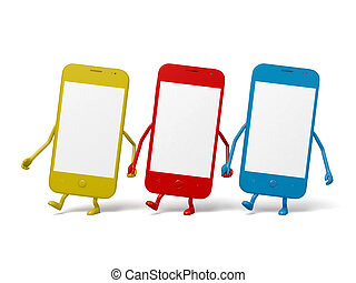 Cellphone - There are three cellphones