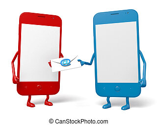 Cellphone - The two cellphones and an email