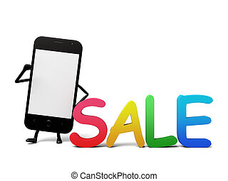 Cellphone - A smartphone and a sale identity