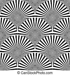 Geometric monochrome pattern with overlapping circles...