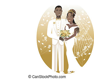 Bride Groom 2 - Vector Illustration. A beautiful bride and...