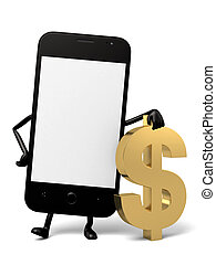 Cellphone - A smartphone and a dollar model