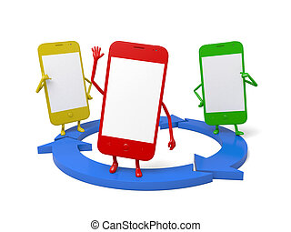 Cellphone - These smartphones and a data sharing circle