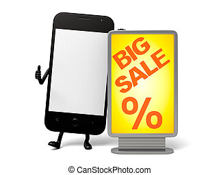 Cellphone - A smartphone and a Big Sale mark