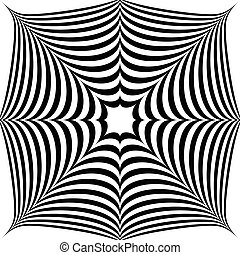 Squarish geometric abstract shape Abstract, monochrome...