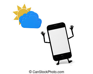 Cellphone - A smartphone met a cloudy day