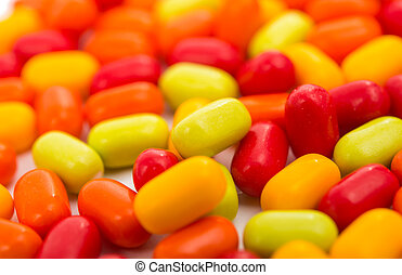 Colourfull candies isolated on white background