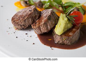 mignon, carne de vaca, filete,