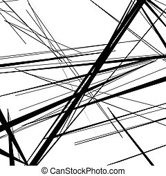 Abstract, irregular lines pattern, background Monochrome...