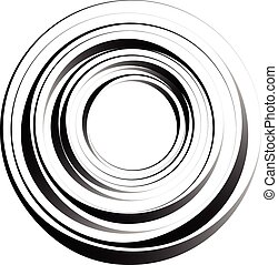 Concentric circles Radiating, radial circles monochrome...