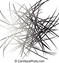Abstract chaotic lines pattern.