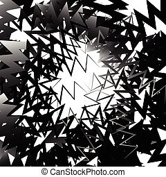 Abstract graphic with irregular, random lines Artistic...